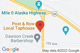Map of 10200 8th Street, Dawson Creek, British Columbia - Mile Zero Clinic - Mile Zero Clinic