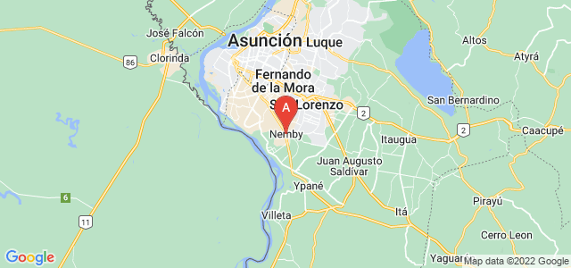 map of Ñemby, Paraguay