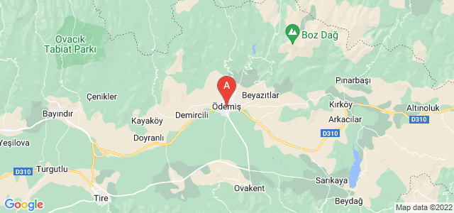 map of Ödemiş, Turkey