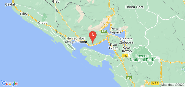 map of Đenovići, Montenegro
