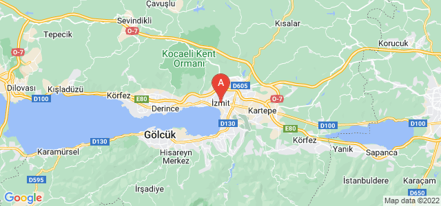 map of İzmit, Turkey