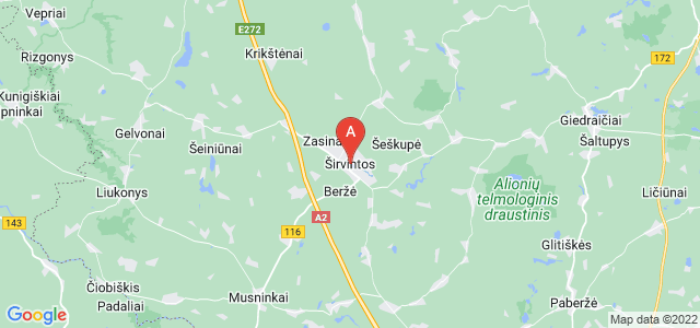 map of Širvintos, Lithuania
