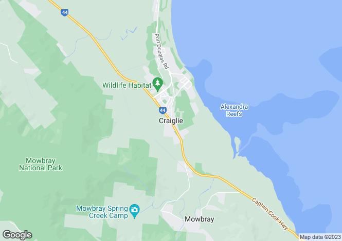 Map for 55 Plantation Resort/1 Beor Street, CRAIGLIE 4877