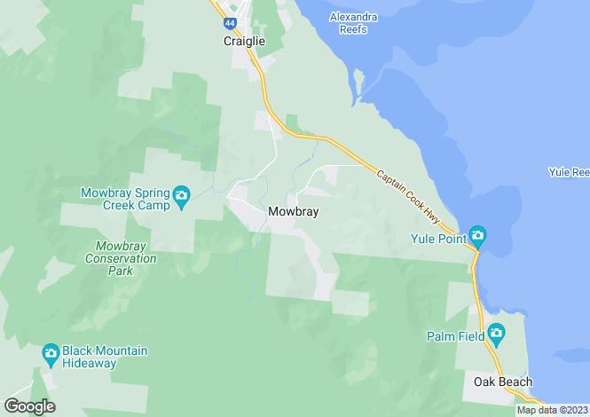 Map for 268 Mowbray River Road, MOWBRAY 4877
