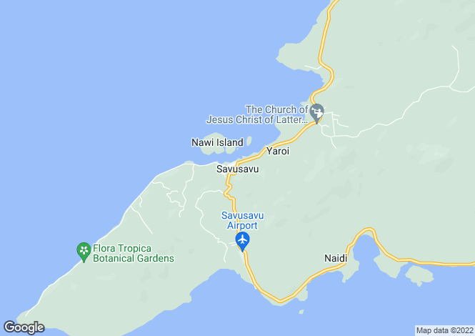 Map for Savusavu