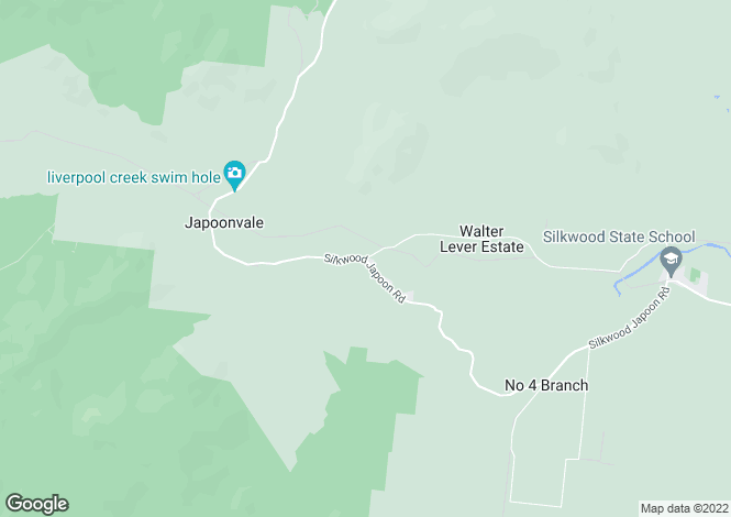 Map for 1100 Silkwood Japoon Road, JAPOONVALE 4856