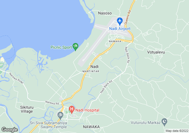 Map for Nadi