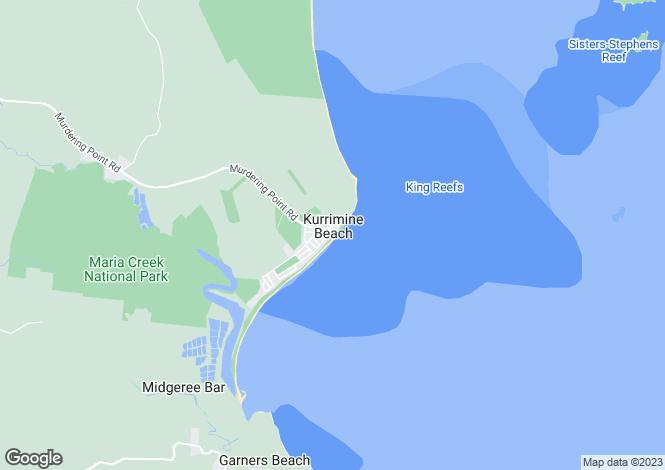 Map for 14 Olive Crescent, KURRIMINE BEACH 4871