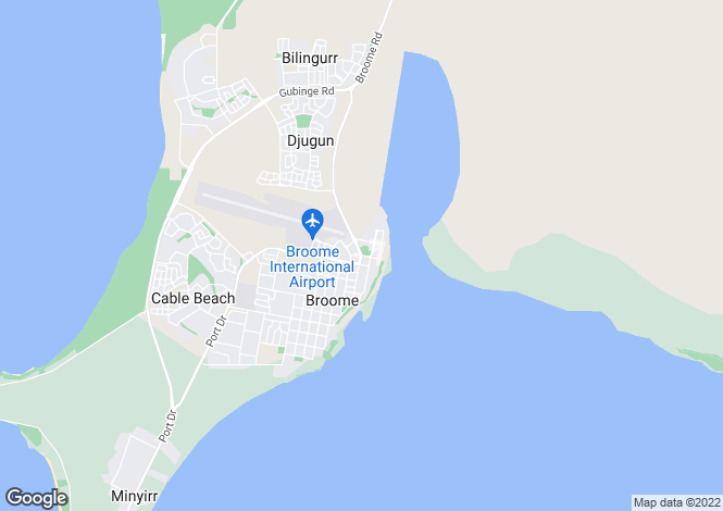 Map for 30 Godwit Crescent, BROOME 6725