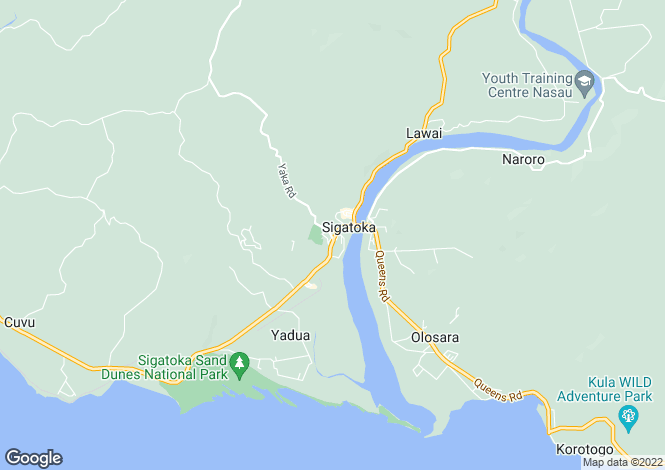 Map for Sigatoka