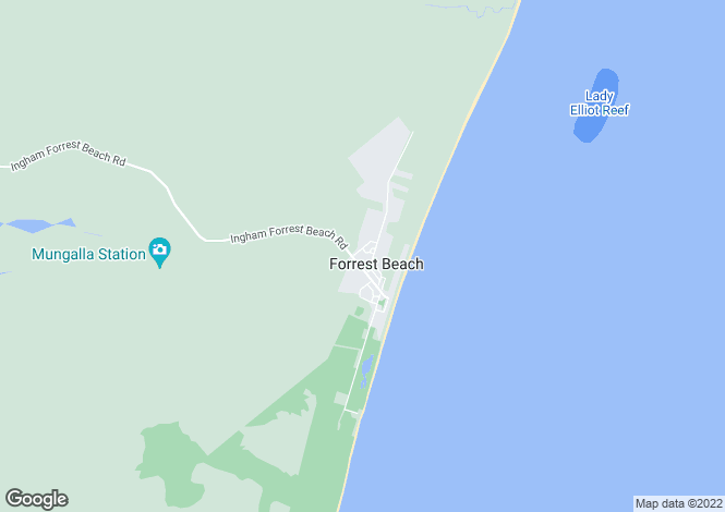Map for Queensland, Forrest Beach