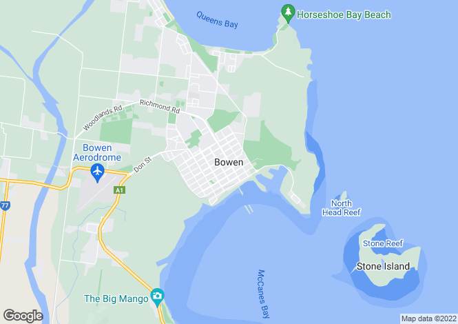 Map for 71 The Esplanade, BOWEN 4805