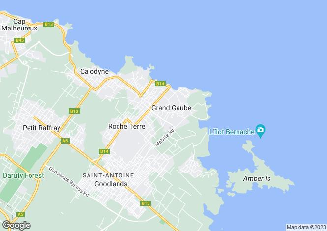 Map for St Antoine, Riviere Du Rempart, Mauritius