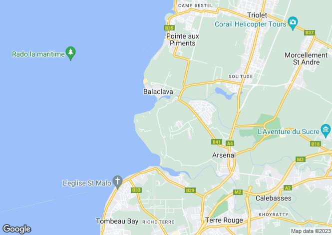 Map for Balaclava, North Mauritius