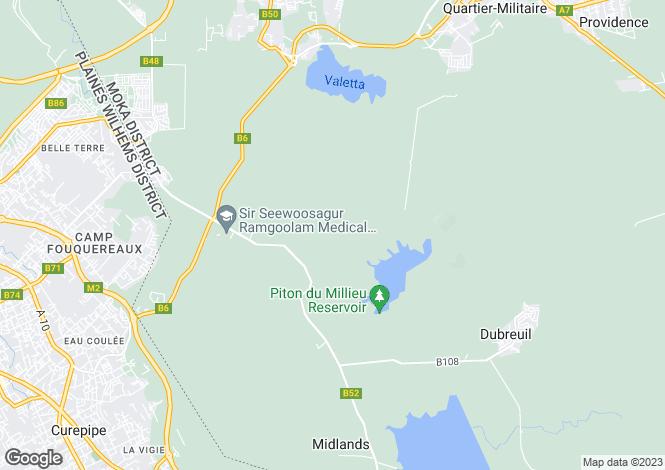 Map for Tamarina Golf and Beach Estate, Tamarin Bay, Mauritius