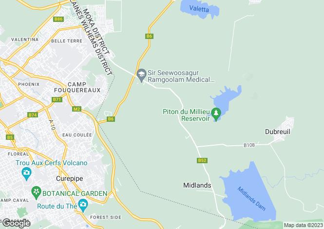 Map for Le Parc de Mont Choisy, Grand Bay, North, Mauritius