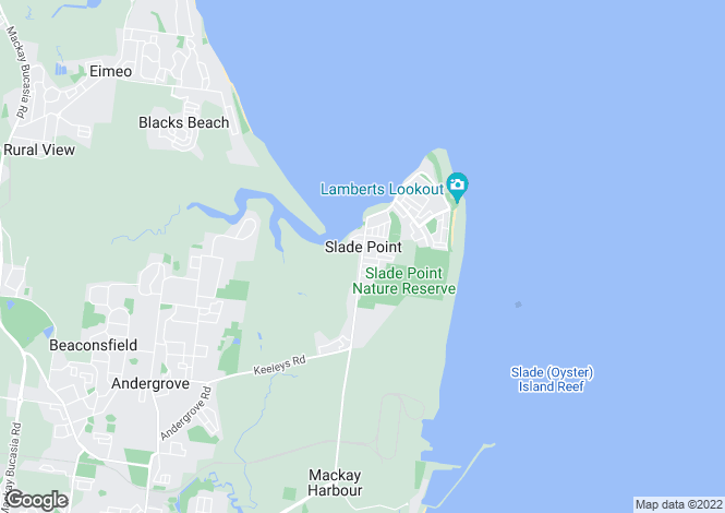Map for 52 Pacific Esplanade, SLADE POINT 4740