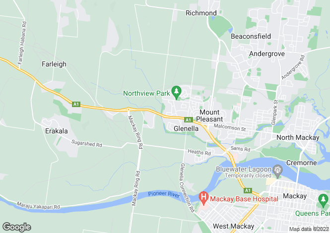 Map for 63 Wheeler Drive, GLENELLA 4740