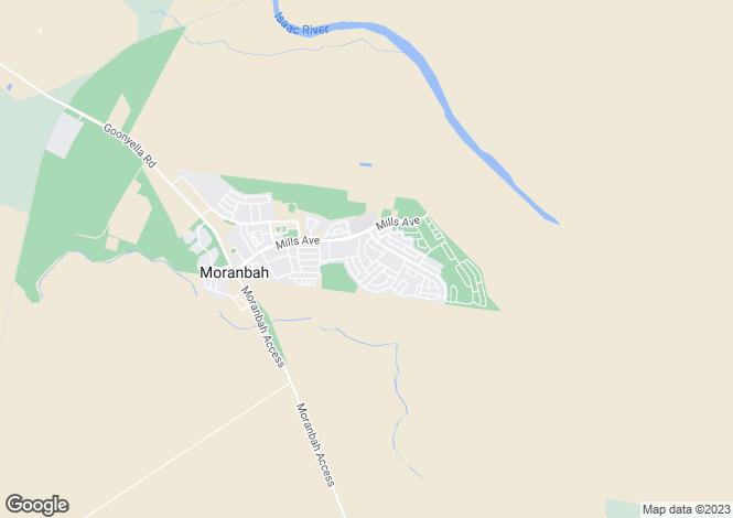 Map for Queensland, Moranbah