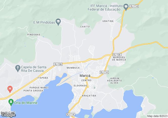 Map for Marica, Rio De Janeiro, Brazil
