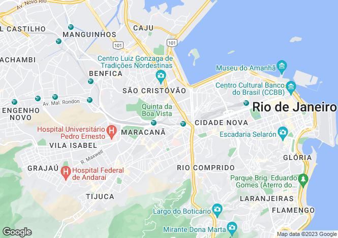 Map for Rio De Janeiro, Brazil, Brazil