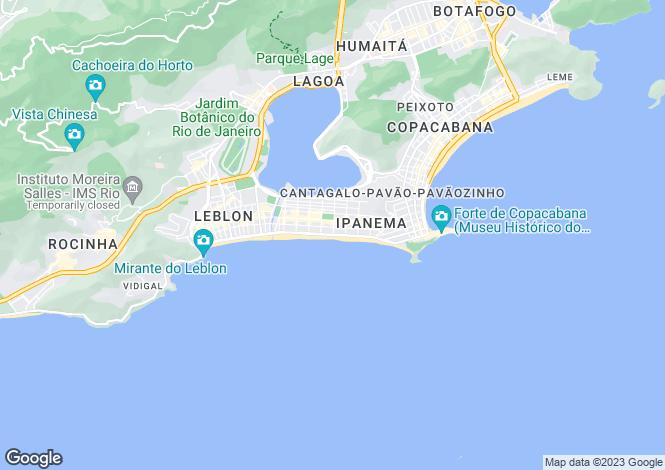 Map for Ipanema, Rio De Janeiro, Brazil