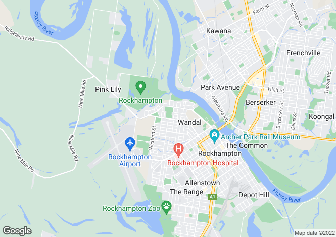 Map for 19 Wilkinson Street, WANDAL 4700