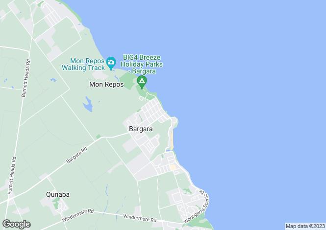 Map for 46 Woongarra Scenic Drive, Bargara 4670