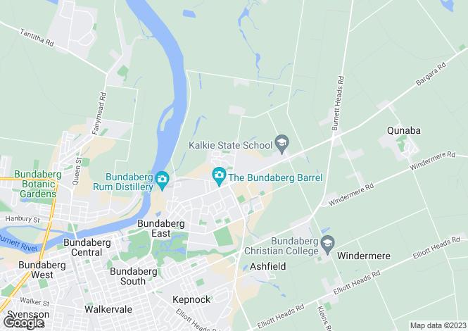 Map for 22 Linderberg Street, Kalkie 4670