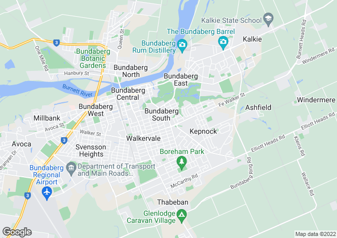 Map for 74 George Street, Bundaberg South 4670