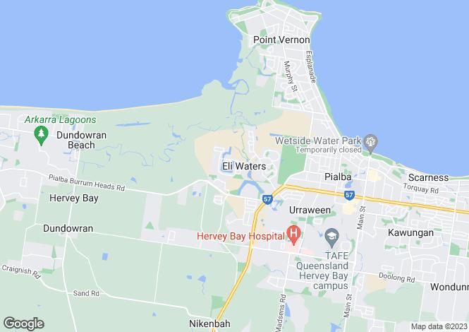 Map for Queensland, Eli Waters
