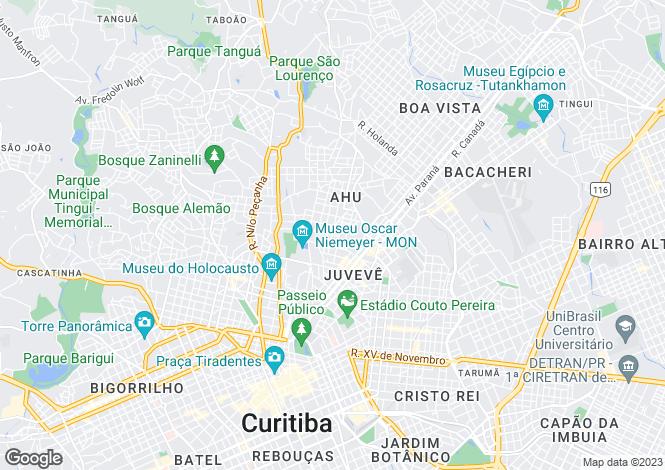 Map for Paraná, Curitiba