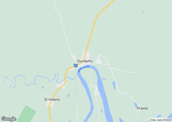 Map for 1362 Maryborough - Hervey Bay Road, DUNDATHU 4650