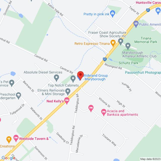 Maryborough Location Map