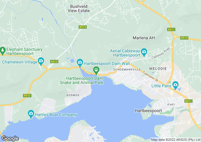 Map for 14 Karel Way, Schoemansville, Hartbeespoort, North West Province