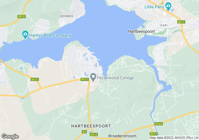 Map for 9 Southwinds, Eagles Landing Estate, Hartbeespoort, North West Province