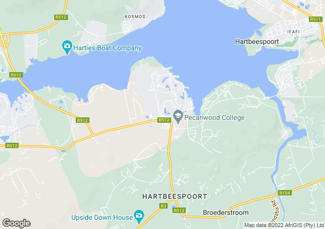 Map for 68 Woodlands Circle, Pecanwood Golf Estate, Hartbeespoort, North West Province
