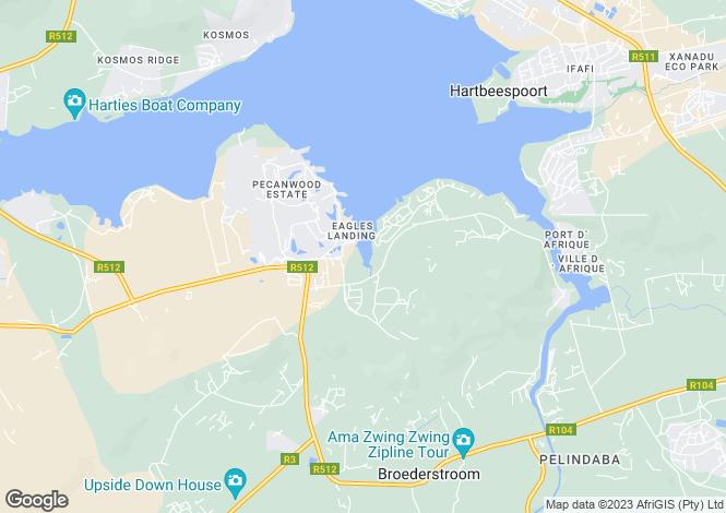 Map for 15 Pecanwood Drive, Pecanwood Golf Estate, Hertbeespoort, North West Province