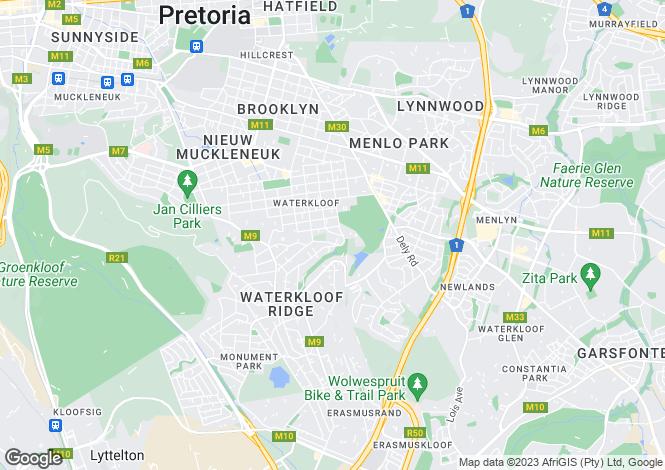 Map for Bramley Street, Waterkloof