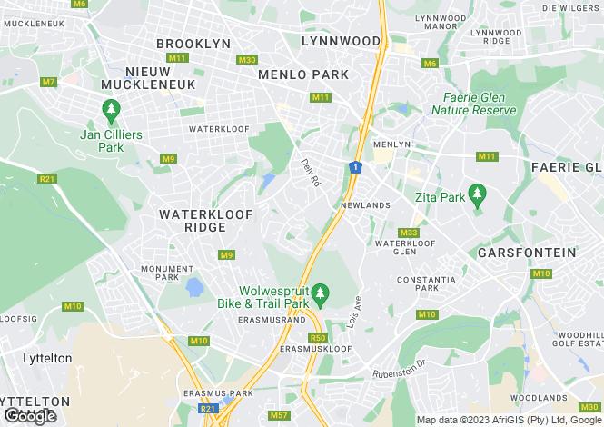 Map for Matroosberg Rd, Waterkloof Heights, Pretoria
