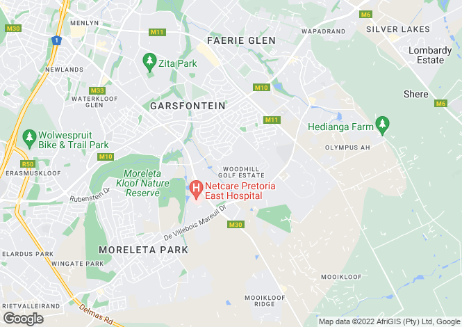 Map for Brondesbury, Woodhill Residential Estate an, Pretoria East