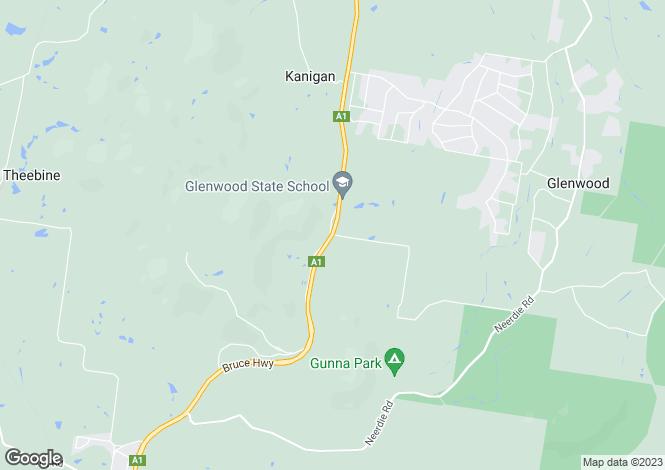 Map for 40 Clarke Road, GLENWOOD 4570