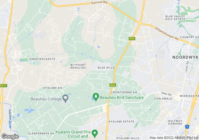 Map for 39 The Paddocks, Blue Hills Country Estate, Midrand, Gauteng