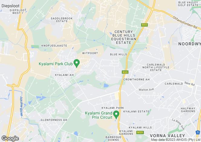 Map for 178 Palamino, Beaulieu Country Estate, Midrand, Gauteng