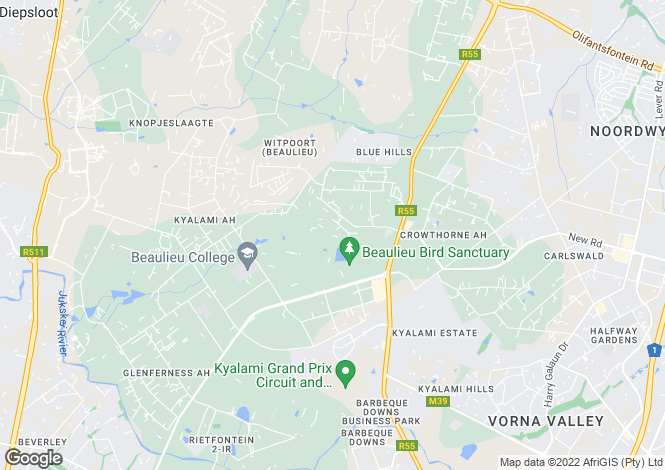 Map for Pinto Place, Waterfall Equestrian Estate, Midrand, Gauteng