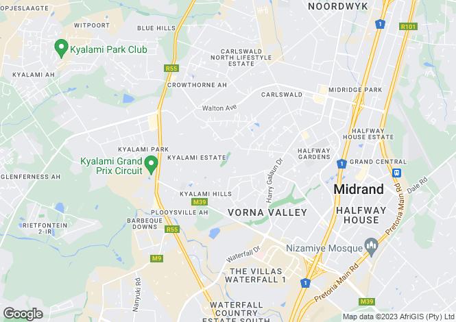 Map for 983 Palamino, Kyalami Estate, Midrand, Gauteng