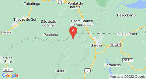 map of Serra do Mar (Brazil)