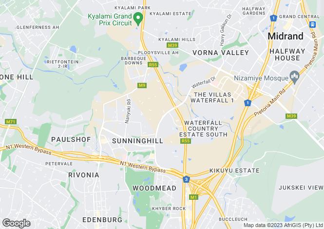 Map for Shetland Avenue, Waterfall Equestrian Estate, Gauteng
