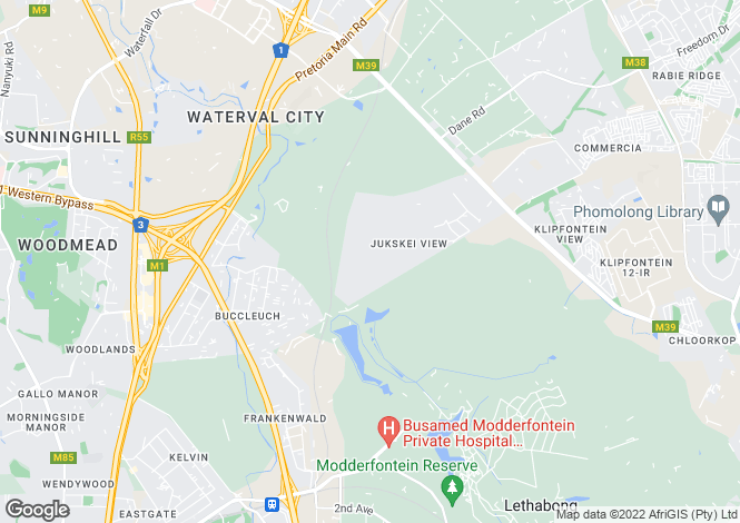 Map for 55A Oxford Avenue, Sandhurst, Johannesburg, South Africa
