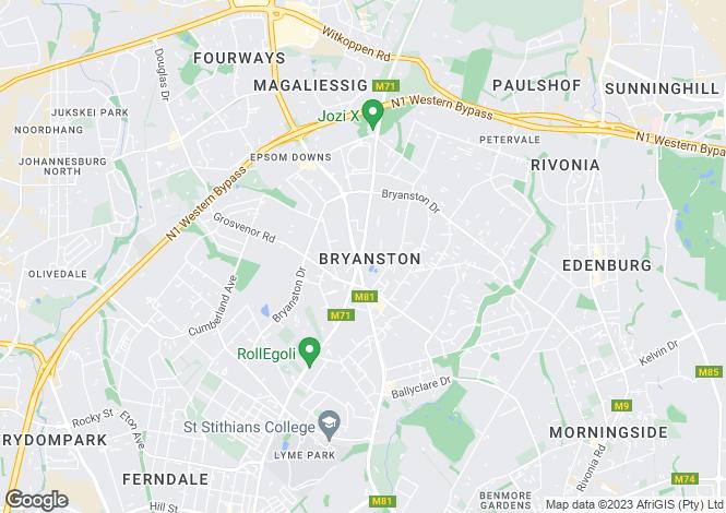 Map for Sandton, Gauteng
